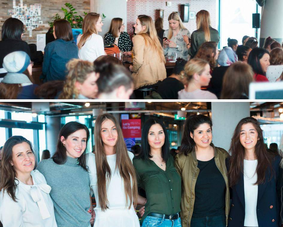 Atmopshärische Eventdokumentation des Internationalen Frauentages 2017 bei WeWork Berlin der Event Fotografin Caroline Wimmer