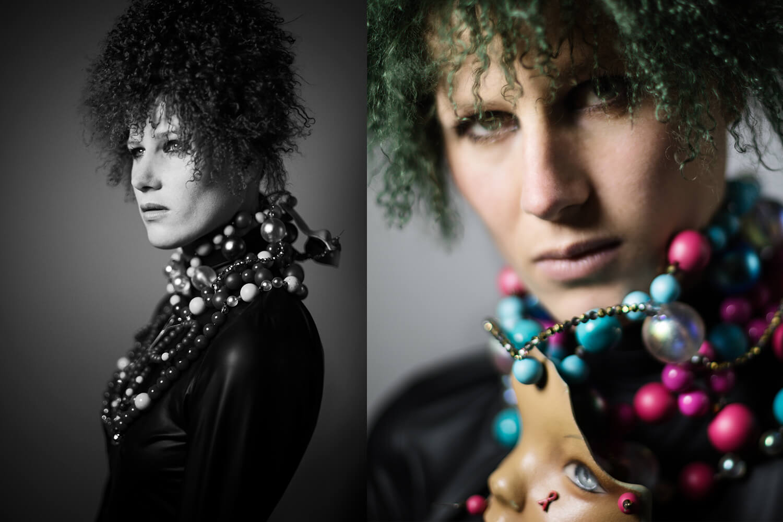 Fashion Fotografie Editorial mit Model Juliane Kayser in Zusammenarbeit mit Lederdesigner Robert Laue fotografiert im Fotostudio ATP24 von Fotografin Caroline Wimmer