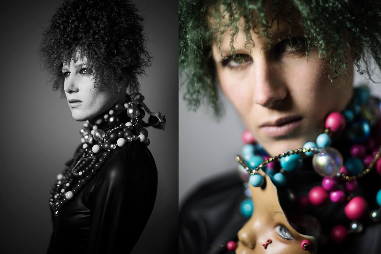 fashion editorial studio designer model accessoires leather jewelry