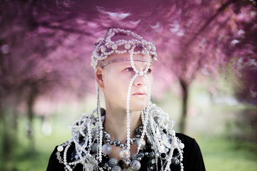 Fashion Editorial Blossoms photography Jewelery Model Berlin