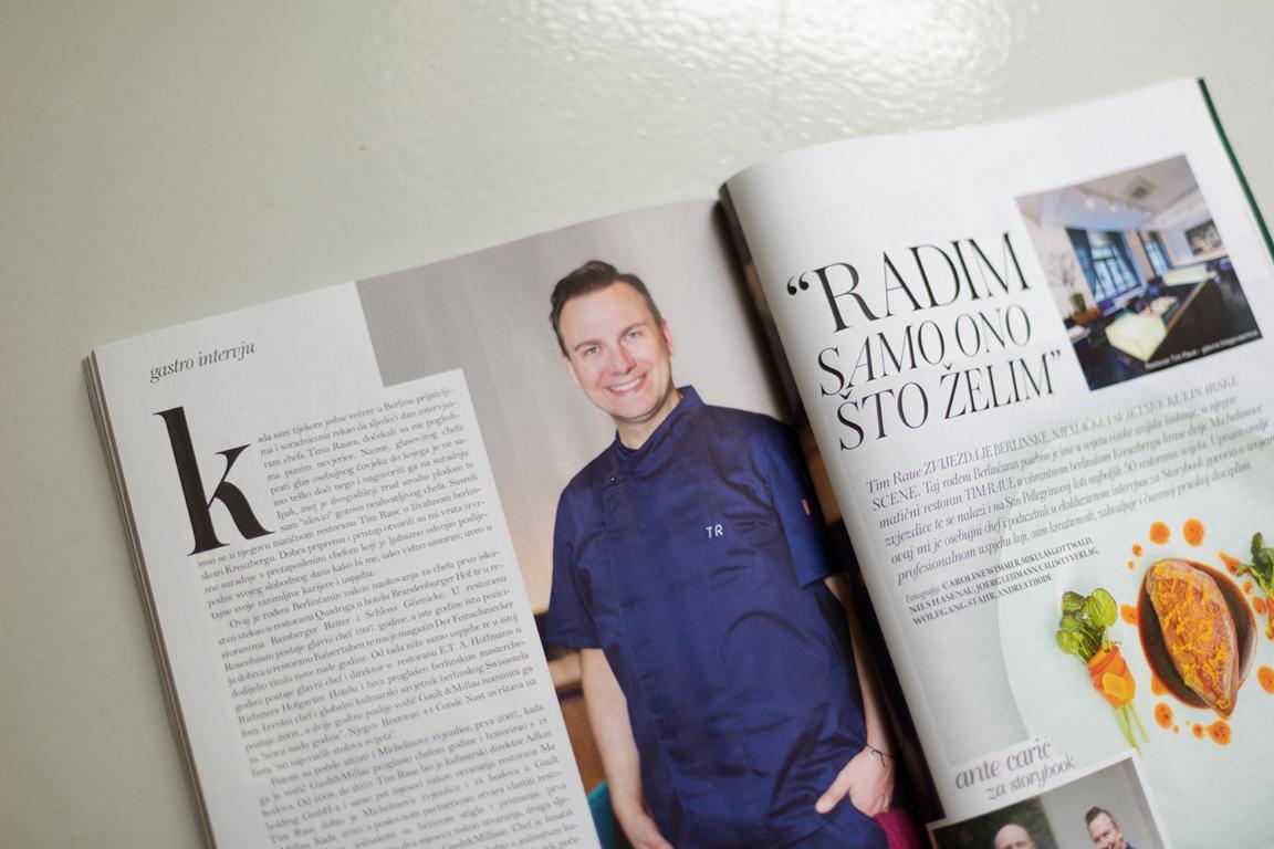 Portraits des Berliner Sternekochs Tim Raue für das kroatische Fashion und Lifestyle Magazine Storybook