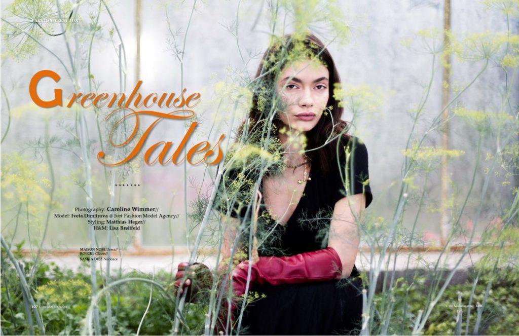 """Fashion Editorial """"The Greenhouse Tales"""" der Berliner Modefotografin Caroline Wimmer veröffentlicht im C`est Moi Magazin"""