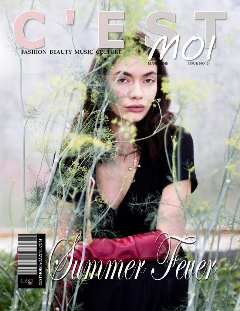 """Cover of C`est Moi Magazin by Berlin fashion photographer Caroline Wimmer from her editorial """"The Greenhouse Tales"""""""