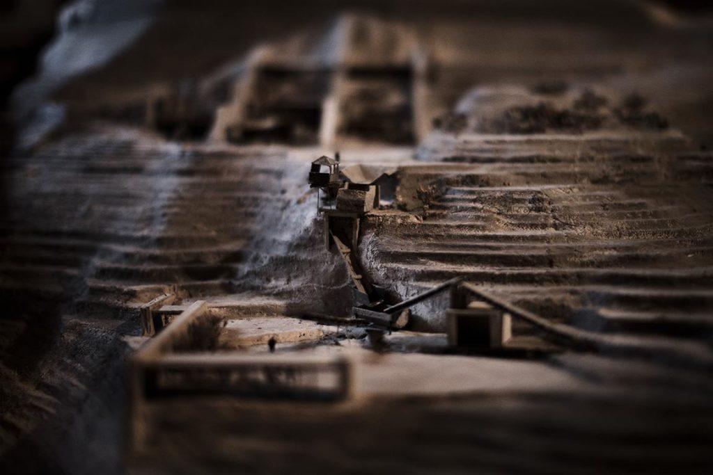 Model of LatoMeio quarry in Leonidio, Greece by Dina Danesi